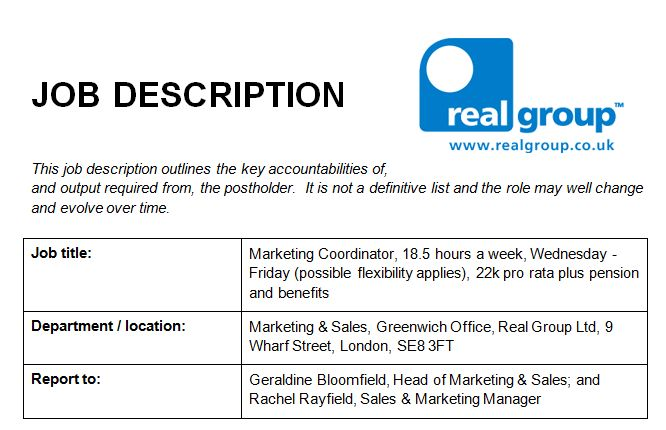 Marketing Job Description Image  Real Training  Real Training